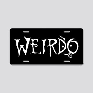 Weirdo Aluminum License Plate