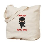 Ninja Bus Boy Tote Bag