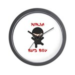 Ninja Bus Boy Wall Clock
