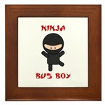 Ninja Bus Boy Framed Tile