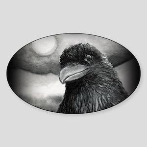 Bird 64 Border Sticker (Oval)