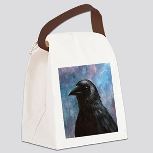 Bird 59 crow raven Canvas Lunch Bag