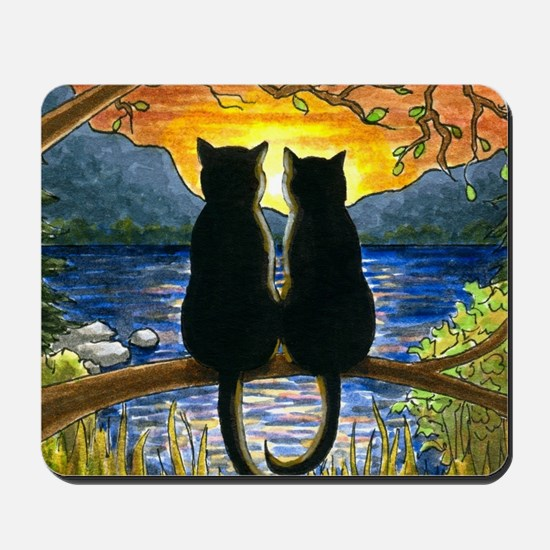 Cat 582 black cats Mousepad