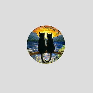 Cat 582 black cats Mini Button