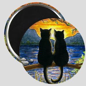 Cat 582 black cats Magnet