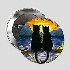 "Cat 582 black cats 2.25"" Button"