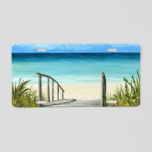 Sea View 147 ocean beach Aluminum License Plate