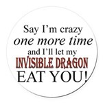 Invisible Dragon Round Car Magnet