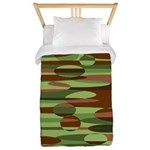 Green and Brown Spheres Twin Duvet