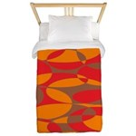 Red, Orange And Brown Elliptical Twin Duvet Cover