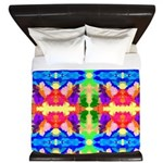 Rainbow Kaleidoscope Butterflies King Duvet