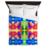 Rainbow Kaleidoscope Butterflies Queen Duvet