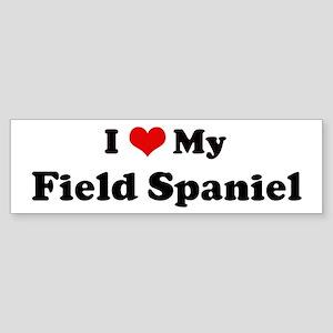 I Love Field Spaniel Bumper Sticker