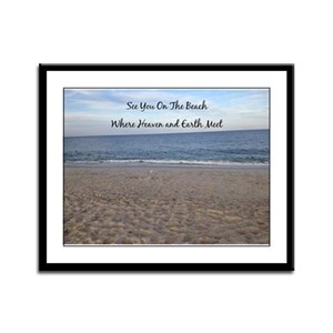 Beach Heaven Framed Panel Print
