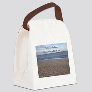 Beach Heaven Canvas Lunch Bag