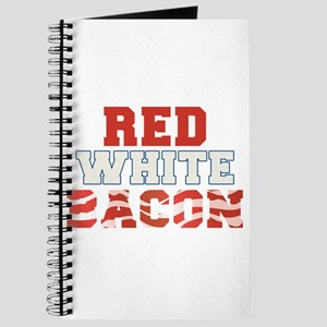 Red White Bacon 4th of July Journal
