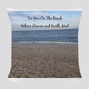 Beach Heaven Woven Throw Pillow
