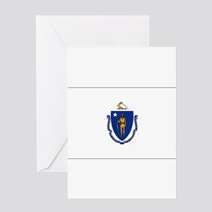 Massachusetts Flag Greeting Cards