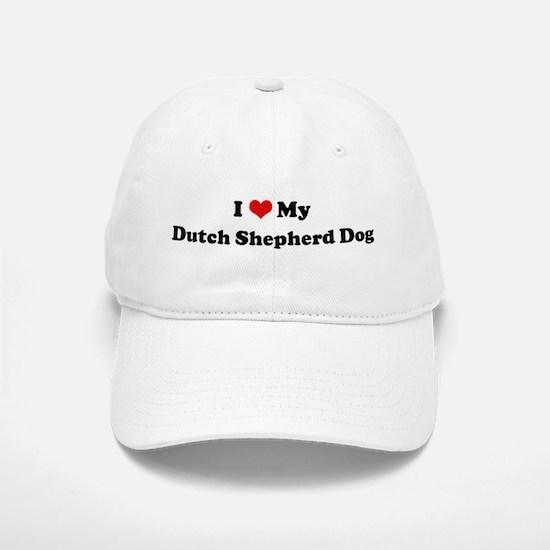 I Love Dutch Shepherd Dog Baseball Baseball Cap