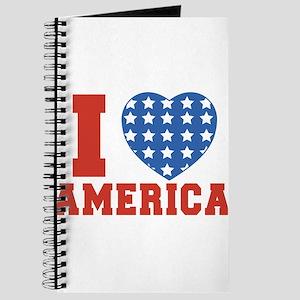 I Heart America Flag 4th of July Journal