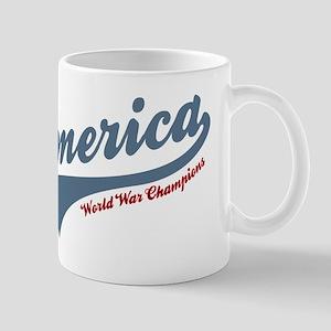 America World War Champions 4th of July Mugs