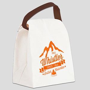 Whistler Mountain Vintage Canvas Lunch Bag