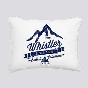 Whistler Mountain Vintag Rectangular Canvas Pillow