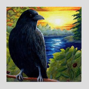 Bird 63 crow raven Tile Coaster