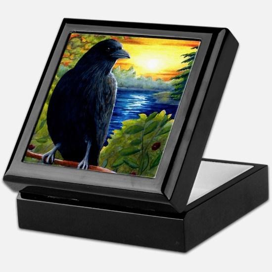 Bird 63 crow raven Keepsake Box