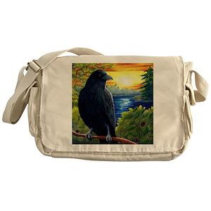 466e0c6420c4 Raven Messenger Bags - CafePress