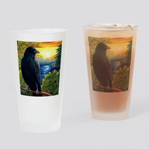 Bird 63 crow raven Drinking Glass