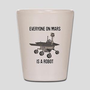 Mars Census Shot Glass