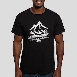 Whistler Mountain Vint Men's Fitted T-Shirt (dark)