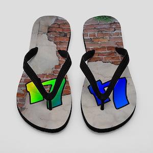 GRAFFITI #1 U Flip Flops