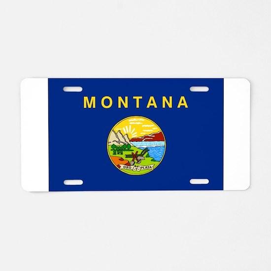 Montana Flag Aluminum License Plate