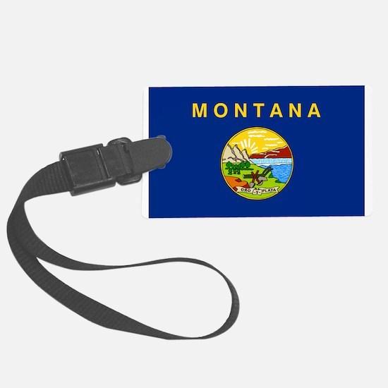 Montana Flag Luggage Tag
