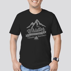 Whistler Mountain Vint Men's Fitted T-Shirt (dark)