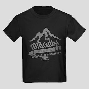 Whistler Mountain Vintage Kids Dark T-Shirt