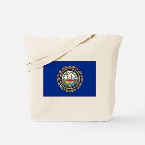 New Hampshire Flag Tote Bag