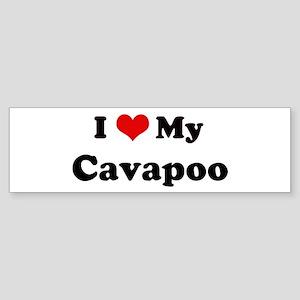 I Love Cavapoo Bumper Sticker