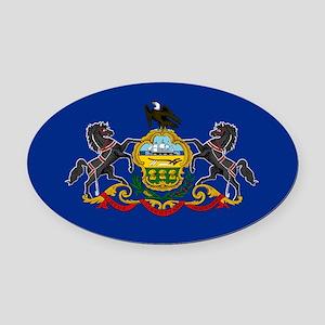 Pennsylvania Flag Oval Car Magnet