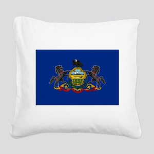 Pennsylvania Flag Square Canvas Pillow