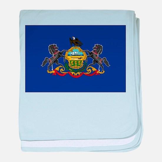 Pennsylvania Flag baby blanket