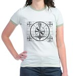 TV Test Pattern Jr. Ringer T-Shirt