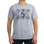 TV Test Pattern Men's Fitted T-Shirt (dark)