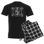 TV Test Pattern Men's Dark Pajamas