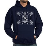 TV Test Pattern Hoodie (dark)