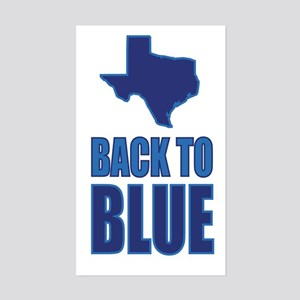 Texas Back To Blue Sticker