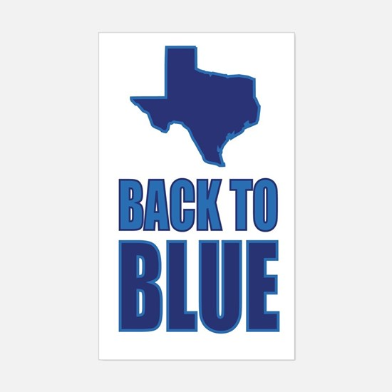 Texas Back To Blue Decal