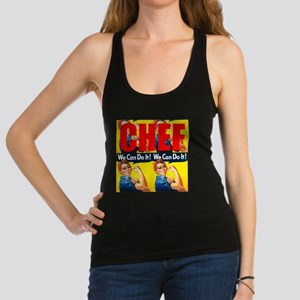 Chef Rosie the Riveter We Can Do It Racerback Tank